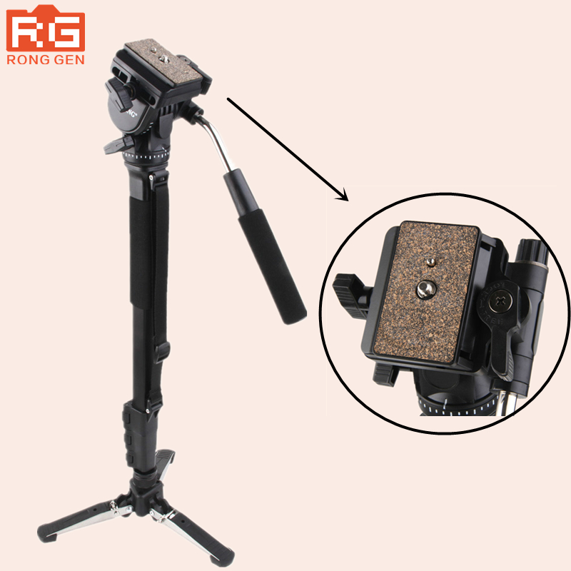 Yunteng 288 Kamera Einbeinstativ VCT-288 Einbeinstativ Halter & Flüssigkeit Pan Kopf Für Canon Nikon Sony