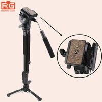 Yunteng 288 Camera Monopod VCT 288 Unipod Holder&Fluid Pan Head For Canon Nikon Sony