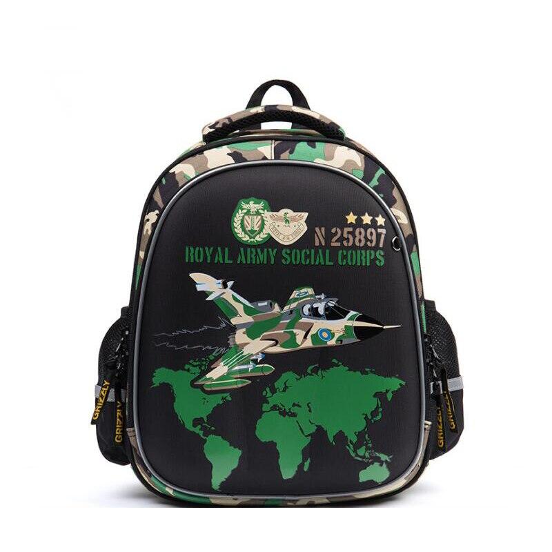 2019 NEW Orthopedic School Bags for Boys Brand design Cartoon Car motorcycle Pattern Prints Kids waterproof