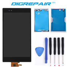 For Sony Xperia Z Ultra XL39h XL39 C6802 C6806 LCD Display touch screen with digitizer Assembly + Tools + Adhesive Free shipping