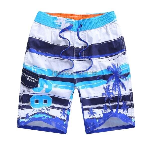Boys' Elastic-Waist Straight Swimwear