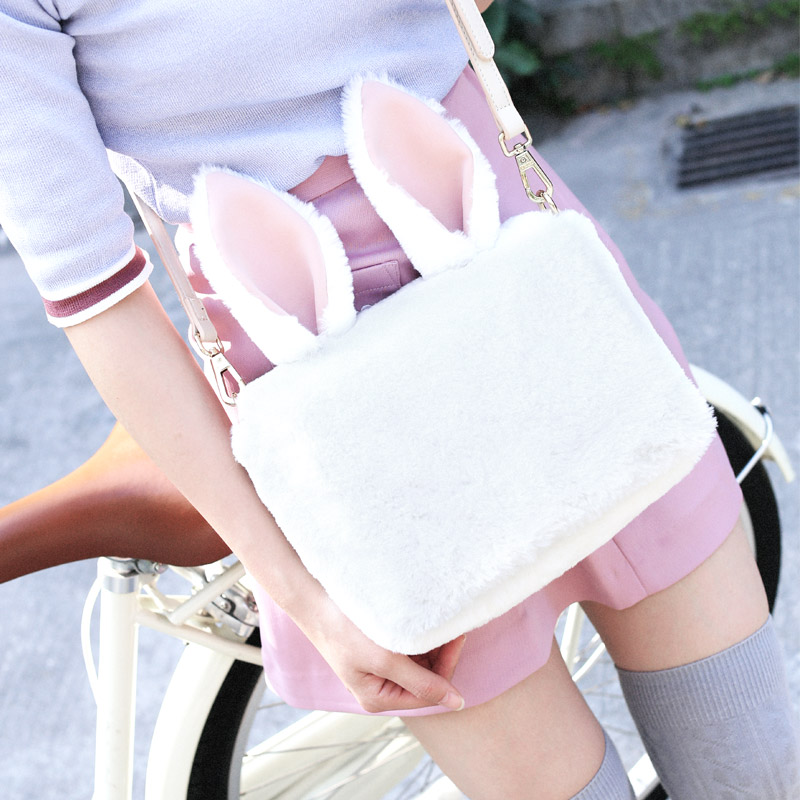Princess sweet lolita bag ENSSO winter Japanese lovely cute hairy bag rabbit sweet soft sister Shoulder Bag women ENSSO 141 цена 2017