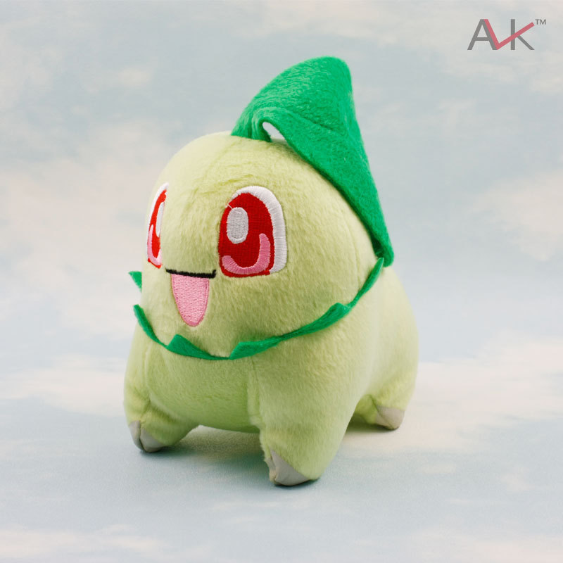 14cm Pokemon Chikorita Plush Doll Toy Stuffed Dolls 6 Figure Doll Gifts for Children and Christmas