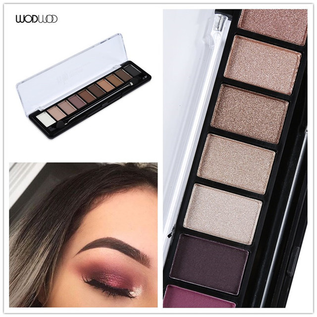 WODWOD Brand Earth Color Eyeshadow Palette Makeup Glitter Eye Palette Maquiagem Profissional Matte Colour Pigment Eye Shadow