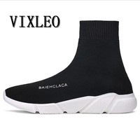 VIXLEO Tenis Designer Men Shoes Casual Mesh Luxury Breathable Ultra Boosts Trainers Slip On Krasovki Size