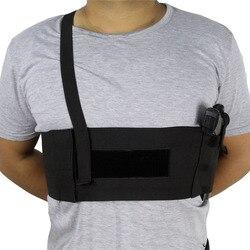 Étui à pistolet sous les bras tactique étui à bandoulière dissimulé profond étui en matériau élastique respirant réglable pour tous les pistolets