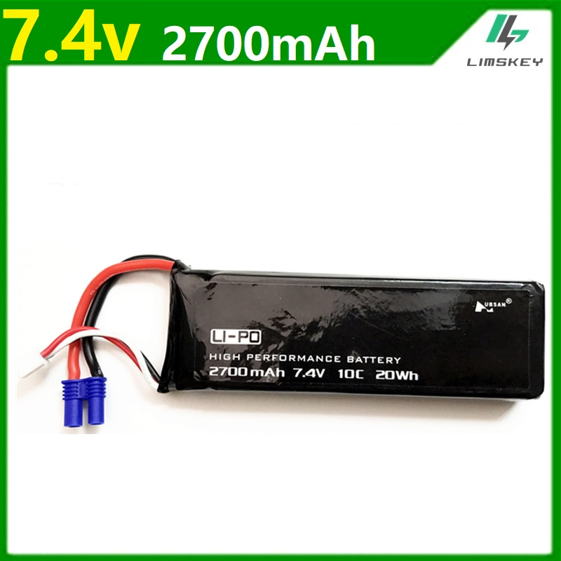 Original for Hubson H501W <font><b>H501a</b></font> H501C H501S X4 7.4V 2700mAh lipo battery 10C 20WH battery For Qaudcopter Drone Parts 2s 7.4 v image