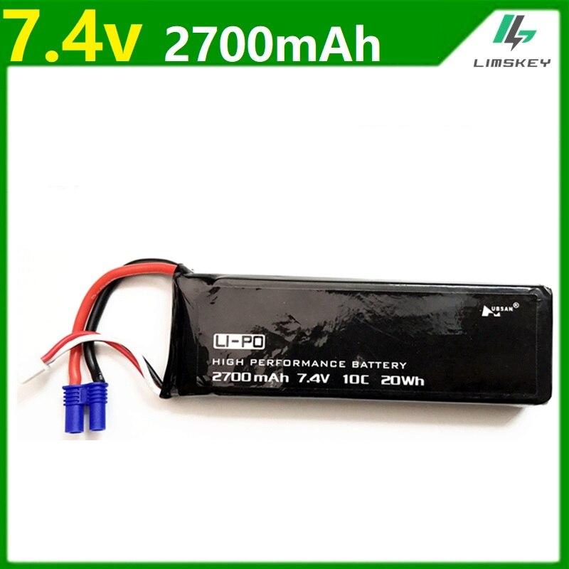 Original para Hubson H501W H501a H501C H501S X4 7,4 V 2700 mAh lipo batería 10C 20WH batería para Qaudcopter Drone partes 2 s 7,4 V