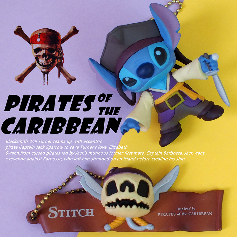 Original Garage Kit Classic Toy Pirates of the Caribbean Pendant & Stitch Action Figure Collectible Model Loose Toy Kids Gifts ...
