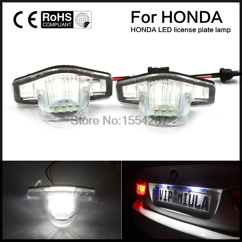 2pcs LED License Plate Light OEM Replacement Kit USE FOR Honda CRV Fit Jazz Crosstour Odyssey новый генератор подходит для honda accord odyssey 2 3l f20b 2 0l oem 31100 p5m 0030