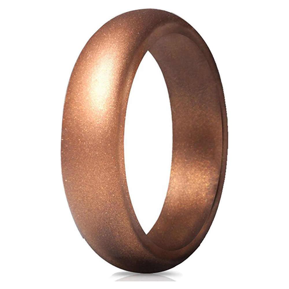 5.7 MM Hypoallergenic CrossFit Fleksibel Karet Cincin 4-10 Ukuran Food Grade FDA Silikon Cincin untuk Pria Wanita pernikahan Perhiasan