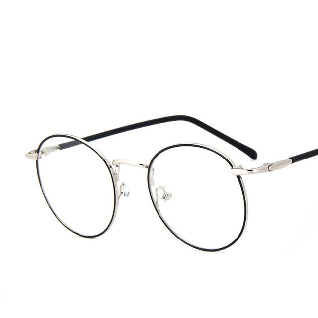 87091aaeda1 Round Thin Rim Fashion Vintage Retro Metal FullRim Optical Prescription  EYEGLASSES FRAMES Men Myopia Glasses 9765 RX Spectacle