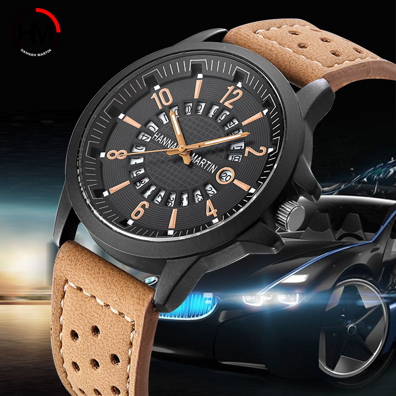 Creative Calendar Date Men Watch Top Brand Luxury Japan Quartz - Men's Watches