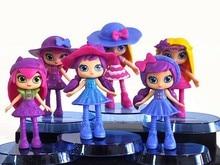 100sets 6pcs/set Cartoon Little Charmers Hazel Posie Lavender PVC Action Figure Collection Model Kids Toy Doll