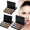 Contorno Cara Crema de Belleza profesional 15 Colores de Maquillaje Paleta de Corrector de Larga Duración