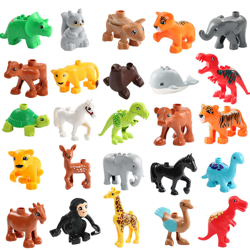 Tier Modell Figuren Big Building Block Setzt Elefanten Kinder Spielzeug Für Kinder