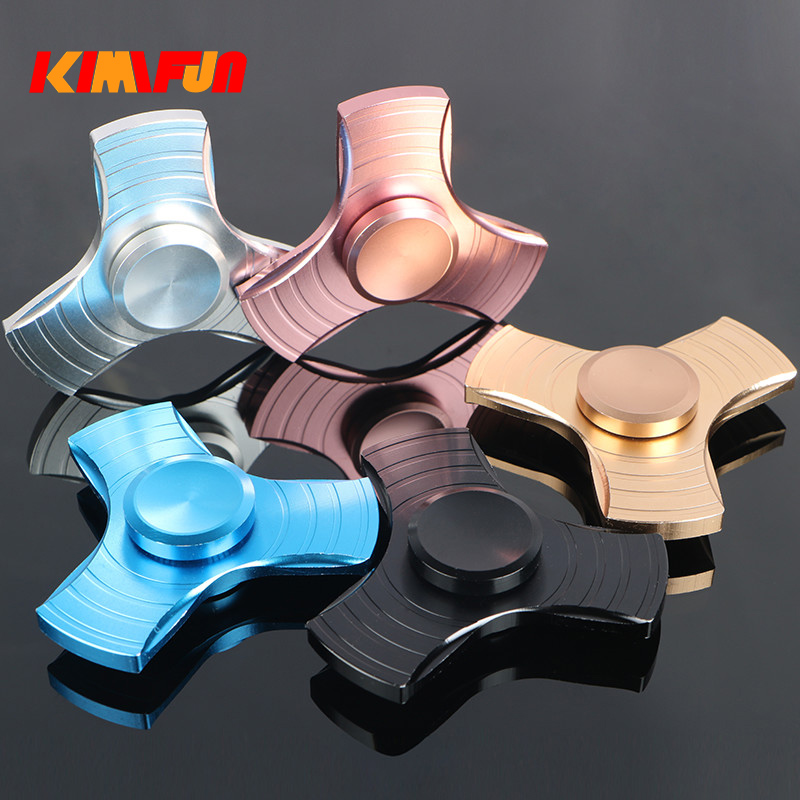Fidget toy EDC Hand Spinner UFO Tri spinner Zinc Fidget Spinner For ADHD Adults Children Anxiety