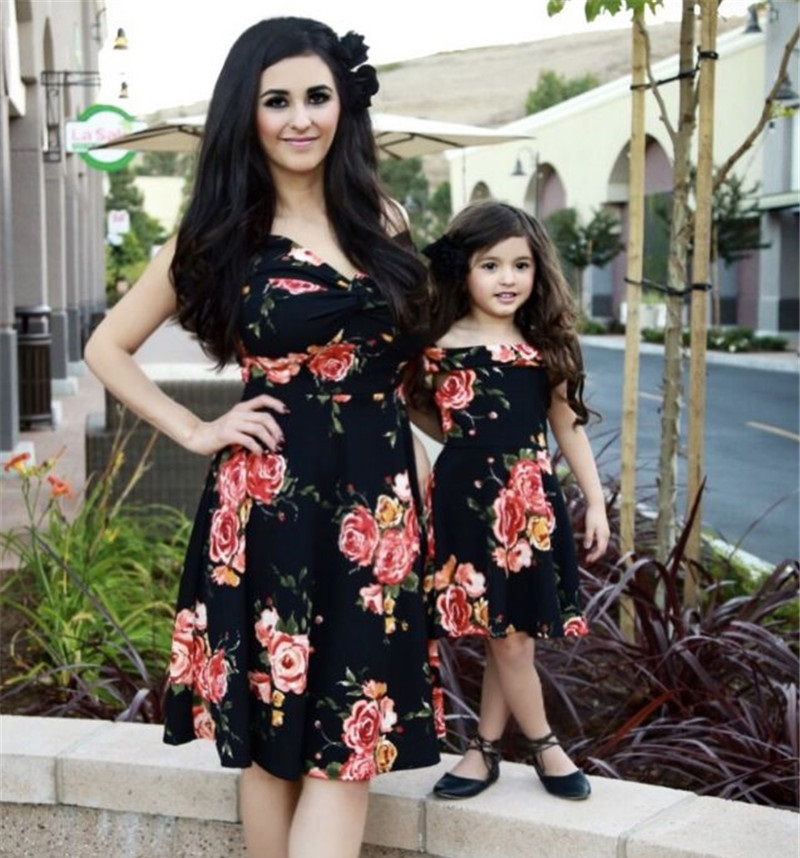 fashion mother daughter dress mommy and me clothes family look matching outfits mom and daughter dresses clothes baby clothing telle mère telle fille vetement