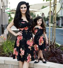 fashion mother daughter dress mommy and me clothes family look matching outfits mom and daughter dresses clothes baby clothing(China)