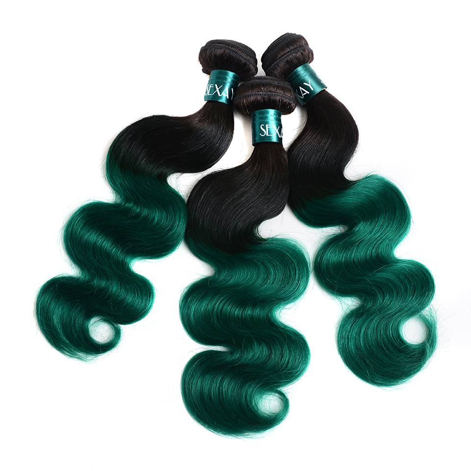 High Quality bundles with closure ombre