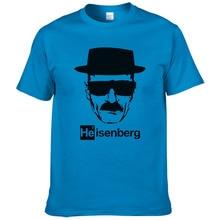 "Heisenberg, футболка, мужская, повседневная, хлопок, короткий рукав, с принтом ""breaking bad"", Мужская футболка, модная, крутая, футболка для мужчин#253"