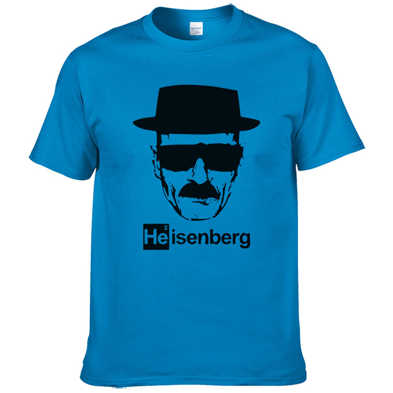 Heisenberg   t     shirt   men casual Cotton short sleeve breaking bad printed mens   T  -  shirt   Fashion cool   T     shirt   for men #253
