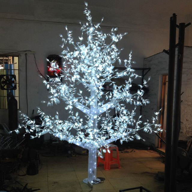 35meters 3072leds white color artificial christmas trees with led lights for christmas holidays decoracion