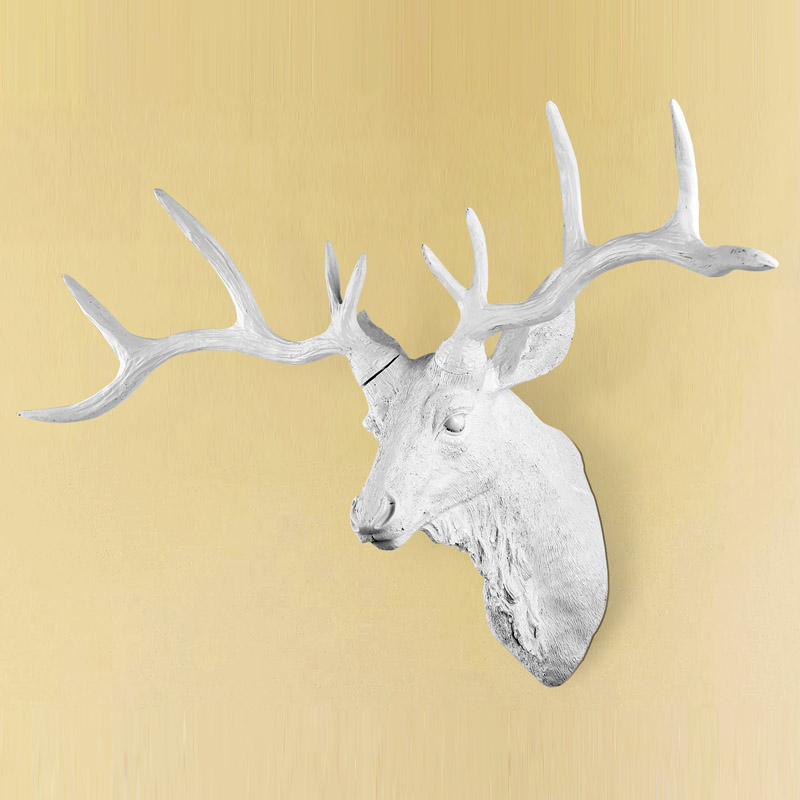 Fancy Faux Deer Head Wall Decor Festooning - Art & Wall Decor ...