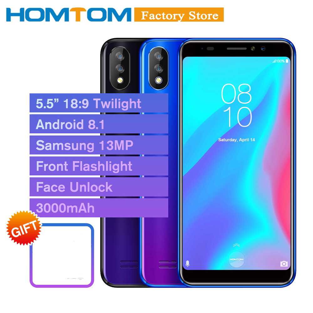 HOMTOM C8 Mobile Phone 5 5inch 18 9 Gradient Android 8 1 2GB 16GB 13MP Camera