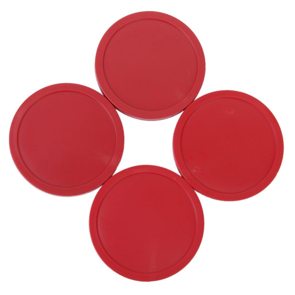 Keep fit keep healthy Store 4 PCS Air Hockey Puck Table Arcade Game Pucks 82 mm - Red