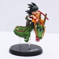14 cm Dragon Ball Z Super Saiyan Goku Son Goku Drive Shenlong Jazda Shenron PVC Action Figures Kolekcja Toy Bezpłatne wysyłka