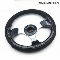 Universal 320mm racing steering wheel / 13inch Steering Wheel + Horn Button For Toyota VW red / blue / yellow / silver / black
