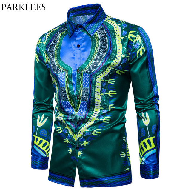 c3d504ad0a7 US $18.02 49% OFF|Mens Hipster African Dashiki Dress Shirts 2018 Casual  Slim Fit Long Sleeve Shirt Men African Traditional Camisas Para Hombre  Xxl-in ...