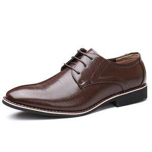 Image 3 - Oxfords chaussures en cuir pour hommes, baskets britanniques noires et bleues, confortables, faites à la main, style formel, Bullock, collection chaussures plates pour homme, à lacets