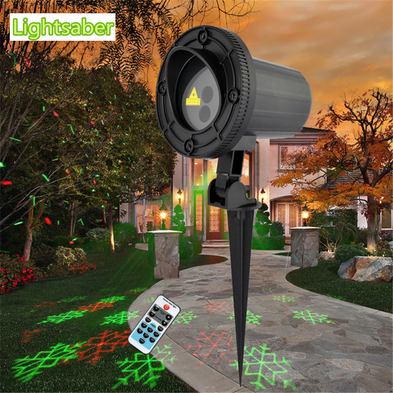 Remote Red Green Star Snowflake Outdoor Laser Light Show Projector Waterproof Garden Holiday christmas lights led lawn light oxo good grips 3 in 1 avocado slicer green garden lawn maintenance