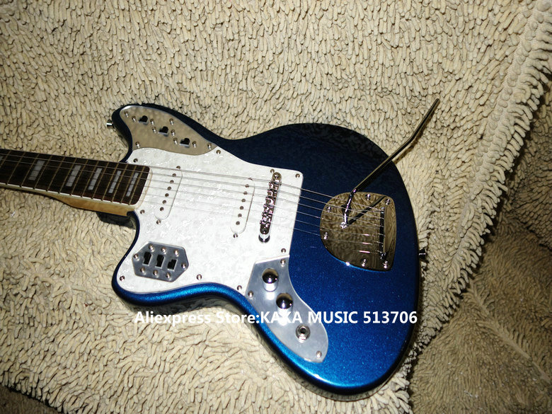 Blue Left Handed Electric Guitar Rosewood Fingerboard High Quality Wholesale Guitars