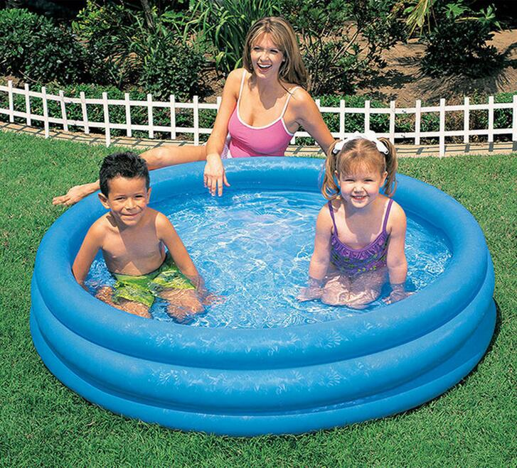 INTEX58446 Crystal Blue Pool Family Inflatable Baby Pool Large Round Wading  Pool Ball Pool Bath Size