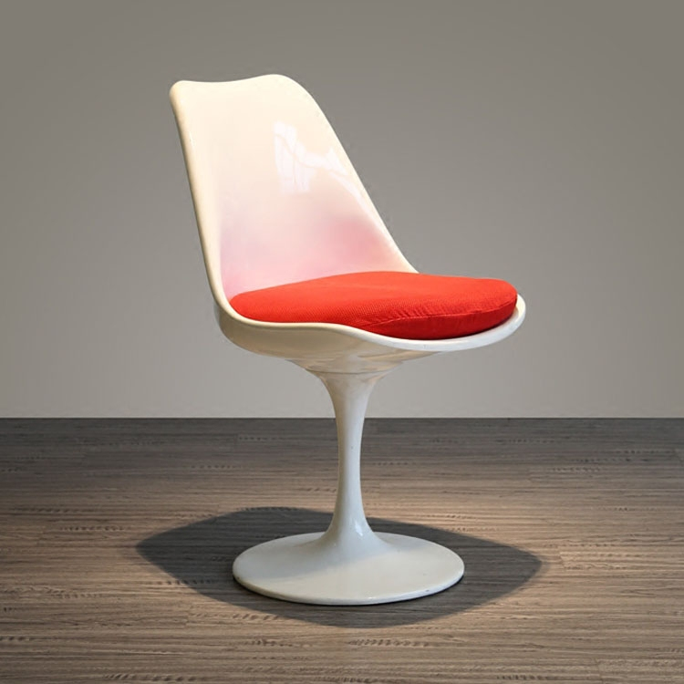 Modern Design Classic Tulip Chair Aluminum Base Swivel