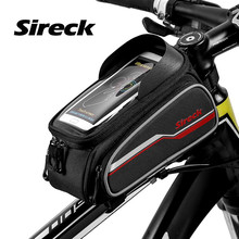 Sireck Bicycle Bag 6.0″ Phone Case Touch Screen Front Frame Bycicle Bike Bag MTB Cycling Top Tube Saddle Bag Bicycle Accessories