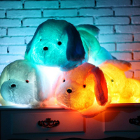 1pcs 50cm Luminous Dog Plush Doll Colorful LED Glowing Dogs Children Toys Plush Doll For Girl