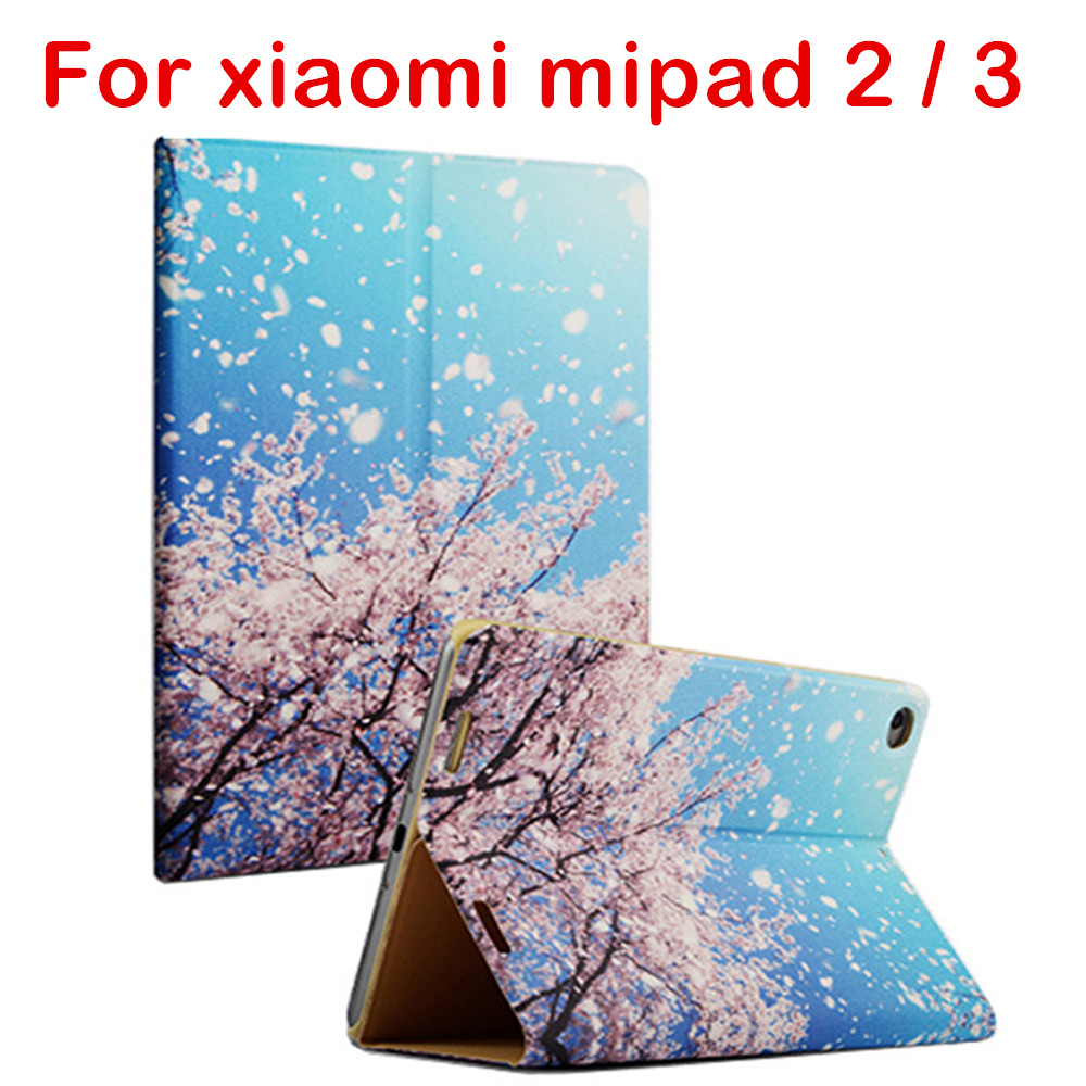 купить New Colored Drawing Leather Case For Xiaomi 7.9 Mi Pad 2 3 Tablet PC Flip Cover For Xiaomi Mipad 2 3 Stylus Gift онлайн