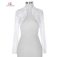Belle Poque Lace Bolero Wedding Long Sleeves Elegant Jacket Wedding Accessories Cropped Wrap Shrug Women Plus