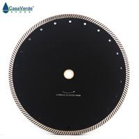 300mm (12) Hot sintered continuous rim turbo diamond cutting blade for stone saw disc