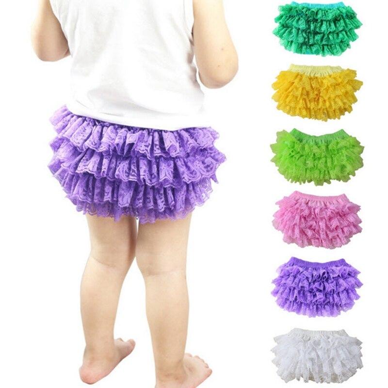 3pcs / 1lot Baby Girls PP Kalhoty Čipka Ruffle Bloomer Princezna - Oblečení pro miminka