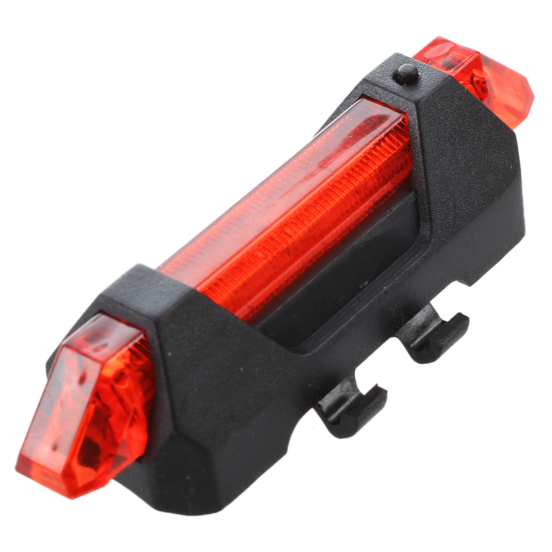 Good Deal 5LED Bicycle Rear Tail Lights Flash USB Rechargeable Bike Safety Lamp Waterproof Black+White Black+Red Black+Blue 13