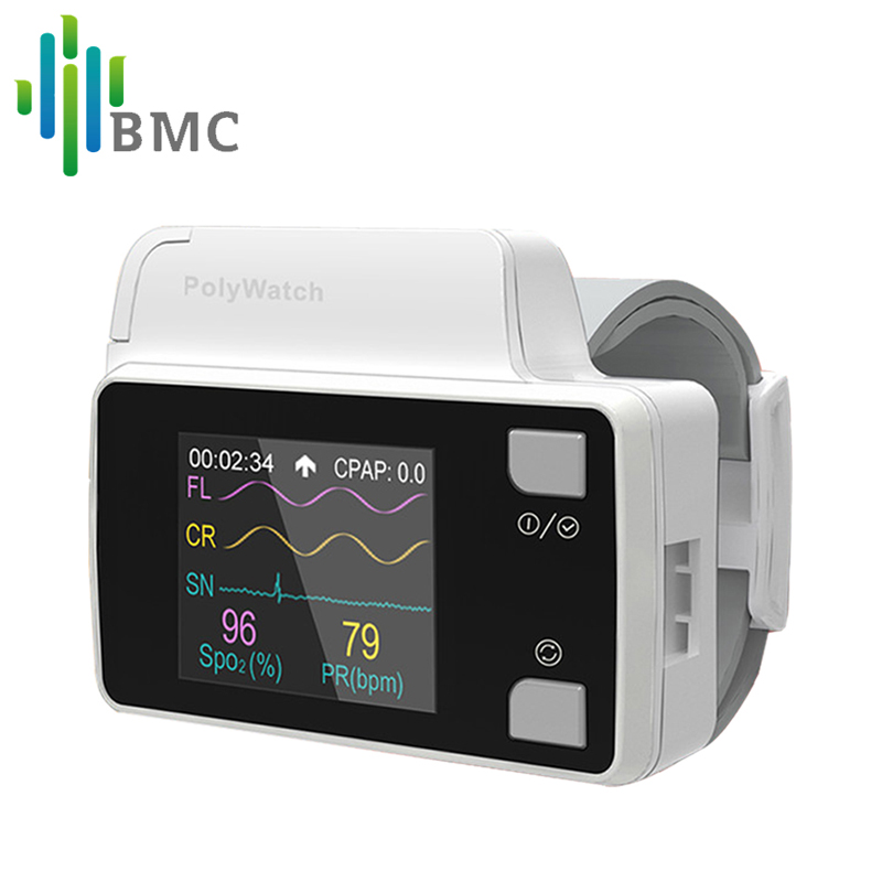 BMC YH-600B PolyWatch CPAP Sleep Diagnosis For Patient's Clinical Medical Home Care Available With Cannual TF Card Black Bag bta212 600b to 220