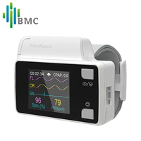 BMC YH 600B PolyWatch CPAP Sleep Diagnosis For Patient's Clinical Medical Home Care Available With Cannual TF Card Black Bag