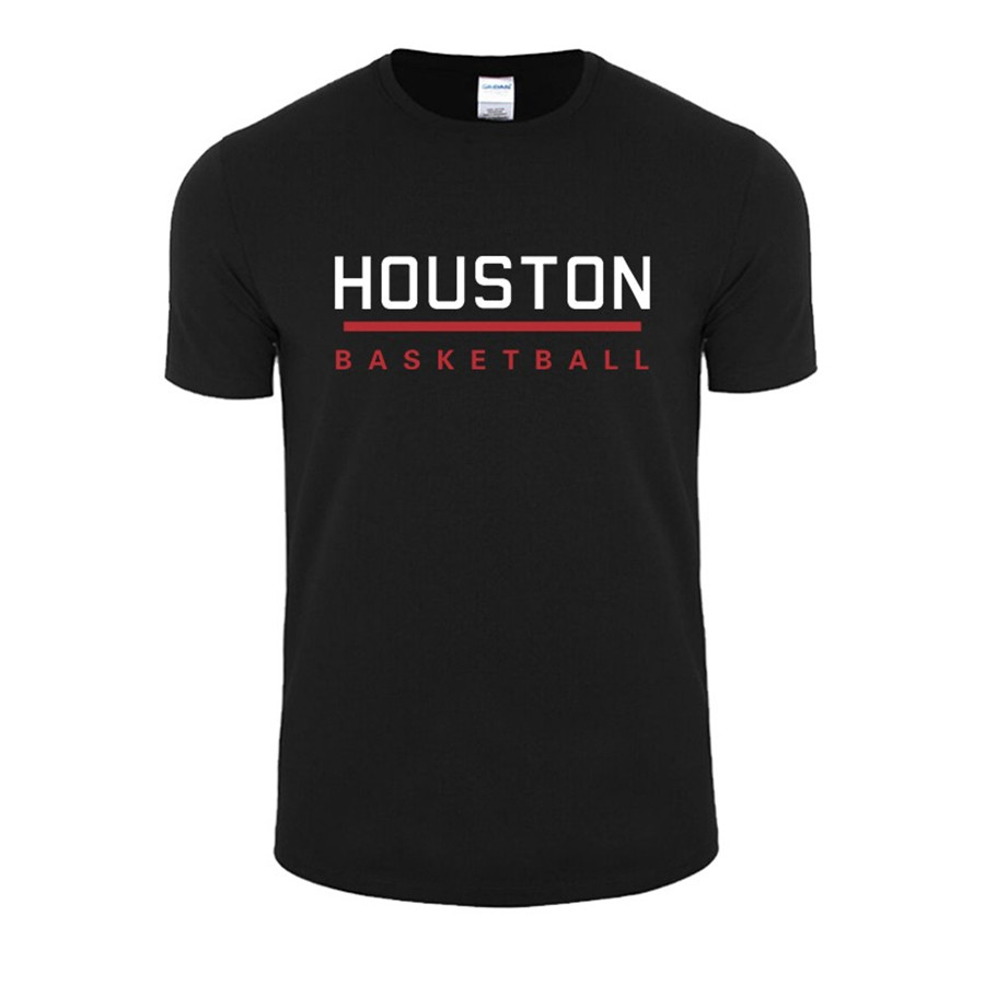 Houston basket ball round collar short sleeve t shirt 100 for T shirt and panties