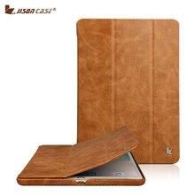 Jisoncase Hakiki Deri Akıllı Kapak için iPad Pro 10.5 2017 Kılıf Lüks Deri Coque Tablet iPad kılıfı 10.5 inç Kapak Çapa