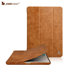 Jisoncase en cuir véritable Smart Cover pour iPad Pro 10.5 2017 étui de luxe en cuir Coque tablette étui pour iPad 10.5 pouces couverture Capa